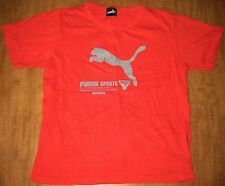 PUMA SPORTS youth lrg athletic tee Spontaneous Alert racing Avanti fitness