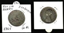 REP.ITALIANA - MONETA DA LIRE 500 ARGENTO, TRE CARAVELLE - 1961-  GR.11- N.190