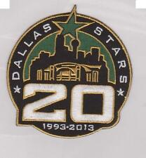 Dallas Stars 20th anniversery jersey patch