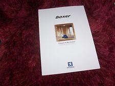 Catalogue / Brochure PEUGEOT Boxer 2001 //