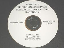 Tektronix 485 Service Manual Amp Operations Handbook 18gb All On A Dvdr