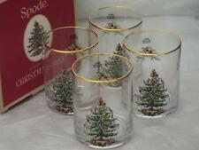 Lot de 4 spode christmas tree double old fashioned verres gobelets new boxed