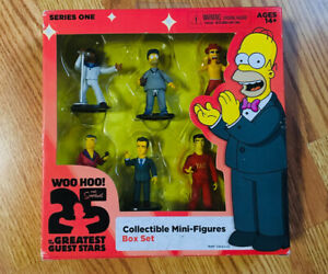 "Simpsons 2.5"" Action Figure Box Set 25 Greatest Guest Stars 6-Pack  *NEW SEALED*"