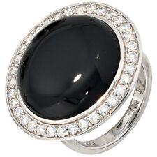 Ringe mit Edelsteinen aus Sterlingsilber Onyx