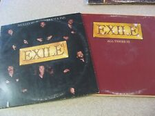 LOT OF 2 EXILE LP/RECORDS/VINYL ALL THERE IS AND MIXED EMOTIONS PLAY GRADED