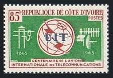 Ivory Coast 228,MNH.Michel 283. ITU centenary,1965.Communication equipment
