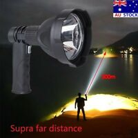 Handheld Search Light LED Rechargeable Spotlight Camping Hunting Flashlight AU