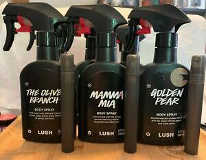 Lush Cosmetics Body Spray Pick Your Scent 10 ml spray sample