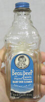 Vtg Figural Advertising Bottle Beau Peep White Baby Shoe Cleaner 1950s