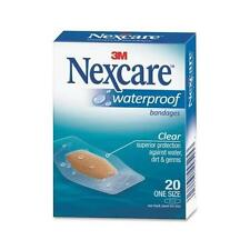 3M Nexcare Waterproof Clear Bandages One Size 20 Each