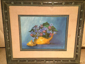 """Nice H Licht 1969 """"Still Life Scene"""" Oil On Canvas Painting - Signed And Framed"""
