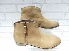 Ladies ALDO ONERIWIEN Tan Leather Small Heel Ankle Boots RRP £80 UK 4.5 EU 37.5