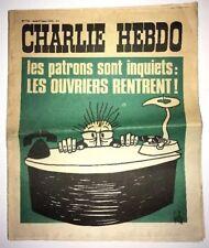 CHARLIE HEBDO No 145 AOUT 1973 GEBE  LES PATRONS SONT INQUIETS LES OUVRIERS RENT