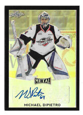2016-17 Michael Dipietro Leaf Metal Rookie Black Auto 6/7 - Vancouver Canucks