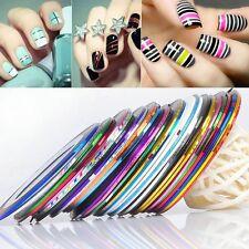 30Pcs Mixed Colors Rolls Striping Tape Line DIY Nail Art Tips Decoration Sticker