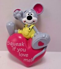 Easter Unlimited Mouse Pink Heart Squeak If You Love Me Valentine Pin,