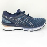 Asics Womens Gel Nimbus 22 1012A586 Blue Running Shoes Lace Up Size 10 Wide