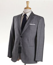 NWT $3575 GIORGIO ARMANI BLACK LABEL 'Taylor' Lightweight Check Wool Suit 38 S