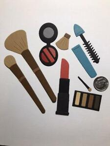 9 Piece Make-up Set Premade PAPER Die Cuts / Scrapbook & Card Making