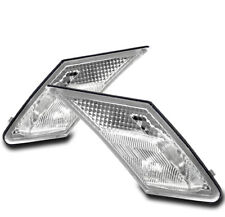 FRONT BUMPER SIDE MARKER LIGHTS LAMPS CHROME FOR 13-17 SCION FR-S/BRZ/TOYOTA 86
