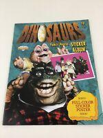 Walt Disney Dinosaurs Sinclair Family Photos Sticker Album Vintage 1991 Unused