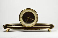 Antico orologio da tavolo meccanica JUNGHANS legno noce italy clock art deco-17M