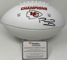 PATRICK MAHOMES Autographed Chiefs White Panel Super Bowl LIV Football FANATICS