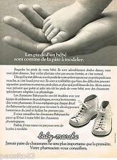 PUBLICITE ADVERTISING 055  1978  BABY-MARCHE  bottines bébé