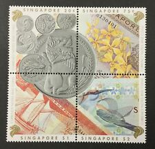 SINGAPORE, #644a, 1992 Block of 4, Coins & Currency, FVF, MNH. CV $7.25. (BJS).