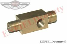 NEW BRASS MADE 3 WAY OIL PRESSURE T - PIECE 53mm JUNCTION PIPE  WILLYS JEEP @DE