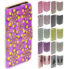 For Sony Xperia Series - Optical Illusion Print Wallet Mobile Phone Case Cover