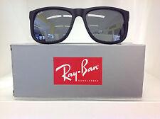 Ray-ban Occhiali da sole Justin 4165 622/6g gomma Nero Grigio Specchio