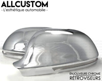 CHROME MIRROR COVERS CAPS WINGS MOLDING for AUDI 07-09 A4 B8 8K SLINE QUATTRO S4