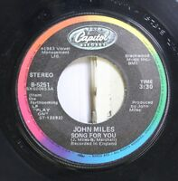 Soul 45 John Miles - Song For You / That'S Rock 'N Roll On Capitol Records
