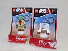 New - Lego STAR WARS LED Lite ( R2-D2 + YODA ) Lot of 2 for Sales