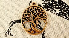 Tree copper 3 charms vintage style jewellery supplies C237