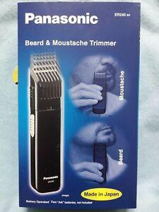 NUEVO Panasonic ER240 BP Beard & Moustache Trimmer <JAPAN Made> Battery Cordless