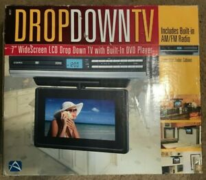 """Audiovox 7"""" Drop Down TV LCD With DVD Player New Opened Box RV"""
