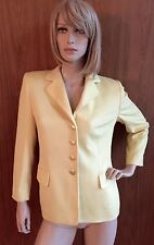 GORGEOUS!! canary colored wool Escada blazer! In immaculate condition, size8