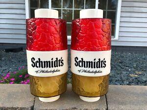 Pair Of Vintage Schmidt's Of Philadelphia Beer Hanging Swag Lamp Shade Covers