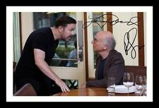 LARRY DAVID & RICKY GERVAIS - CURB YOUR ENTHUSIASM SIGNED & FRAMED PP PHOTO