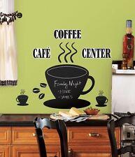 RoomMates Wandsticker Wandtattoo Sticker Wandbilder Kaffee Kreidetafel