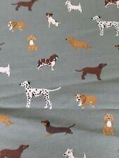 NEW Sophie Allport Fetch Dog Cockerpoo Dalmation Fabric  100 x 50cm