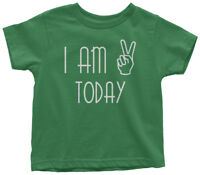 I Am Two Today 2nd Birthday Toddler T-Shirt 2 Year Old Party Gift