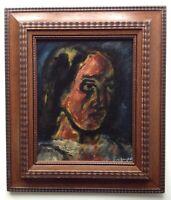 ISIDORE PEYRET (1880-1962) Expressionnisme Portrait Femme Huile goût ROUAULT