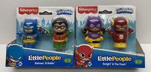 Fisher-Price Little People DC Super Friends Batgirl & the Flash,Batman & Robin