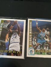 New listing 92-93 NBA Hoops Shaquille O'neal And Alonzo Mourning Rookie Cards