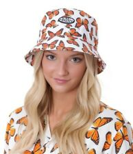 Petals And Peacocks Girls Butterfly Bucket Hat NWT
