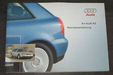 Betriebsanleitung Audi A3 Typ 8L Quattro + Frontantrieb Benzin + Diesel 07/2001