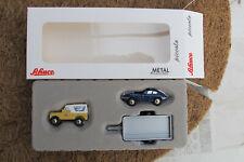 Schuco Piccolo 05029 Set: Land Rover + JAGUAR E-Type + Hanger AUA 2021